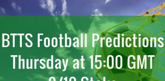btts football predictions thursday
