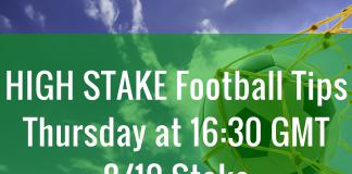 high stake football tips thursday