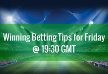 winning betting tips for Friday