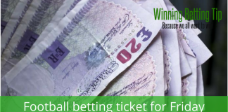 football betting ticket for friday